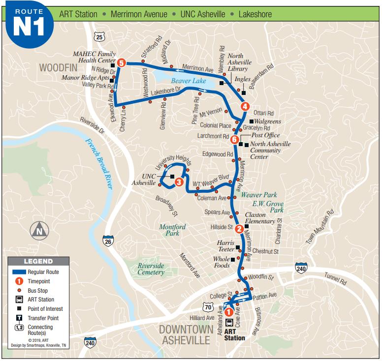 ART N1 Route